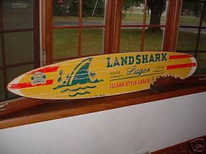 Landshark Surfboard Sign