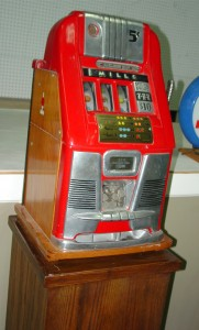 Mills Novelty Company $10 slot machine, Special Award 777, in good working condition will be among the lots up for bid.