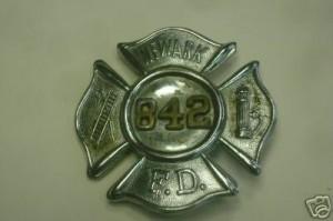 Newark New Jersey Obsolete Fire Badge