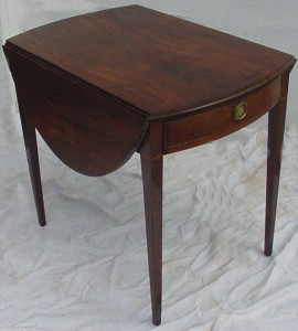 "This famous style table is called a ""Pembroke"" table even if we don't know exactly for whom it was named."