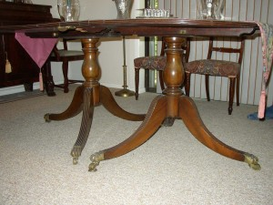 Is this a Phyfe table? No. It is an 18th century English table made decades before Phyfe's time.