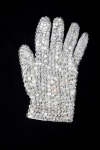 Michael Jackson's Swarovski crystal-studded glove worn during his 1984 Victory tour sold for $190,000 to Wanda Kelley of Los Angeles.
