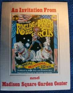 Ringling Bros. and Barnum & Bailey begins each season in Florida but one of the most important events of the season was opening night in New York City's Madison Square Garden.