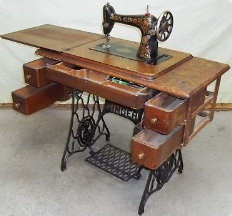 Vintage singer sewing machines made in england