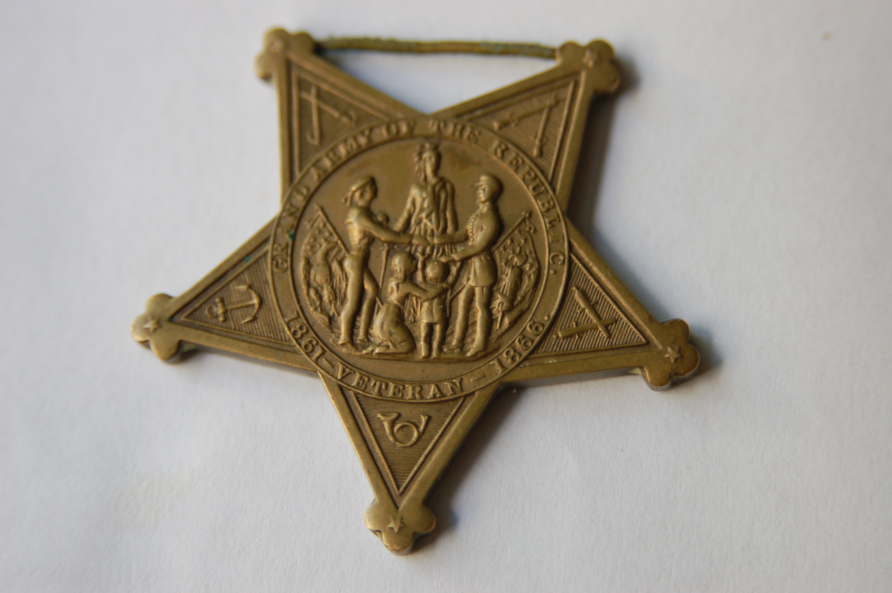 Civil War Grand Army of the Republic Veterans Star
