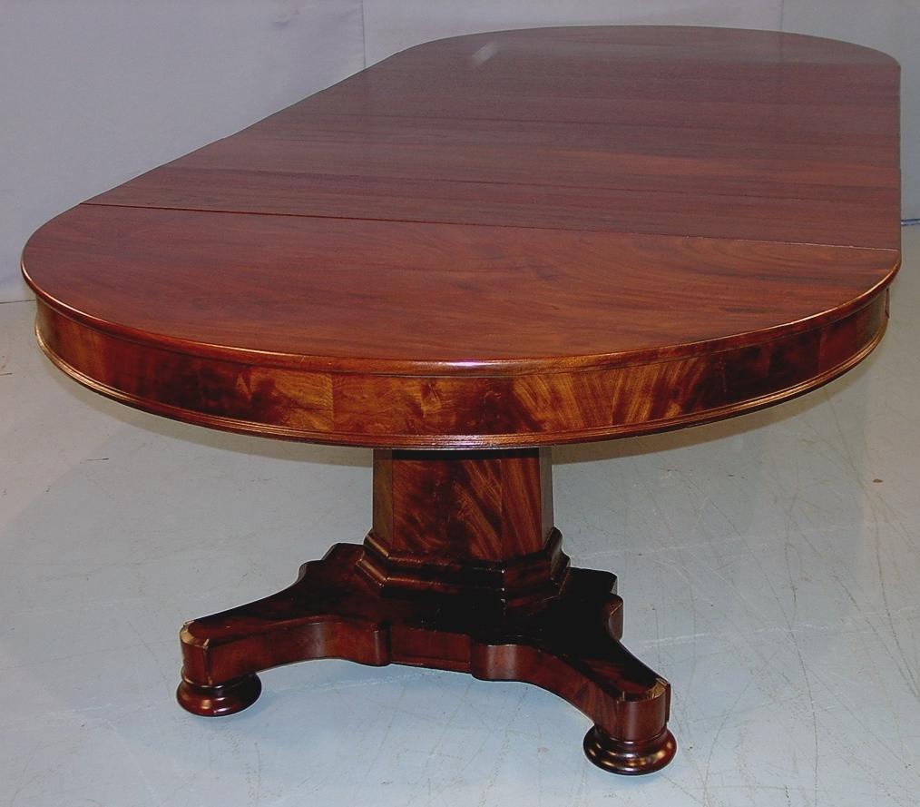 This Mahogany Empire Dining Table