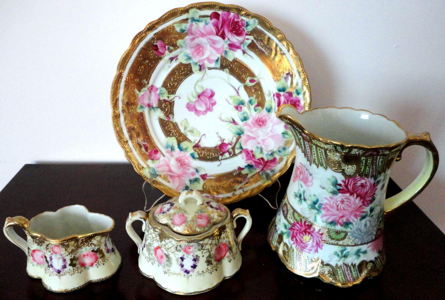 Nippon Porcelain Vase Value.Japan ROSE VASE 1891 Hand Painted ...