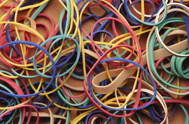 Rubber bands are the enemy of board game and card game paper cards.