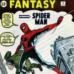 Amazing Fantasy #15 (Aug. 1962) featuring the first appearance of Spider-Man. Originally retailing for 12 cents, a near-mint co