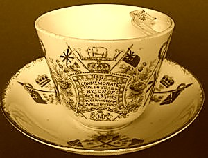 A Victorian mustache cup. WorthPoint members Dora E. wants to know if her $40 buy was a good one.