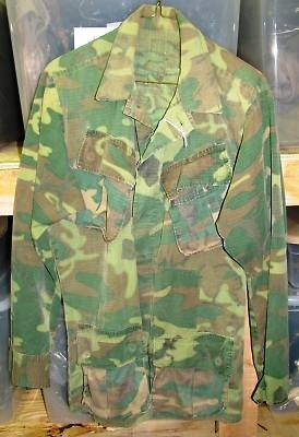 ERDL pattern camouflage jacket, circa 1969, which sold for $31.