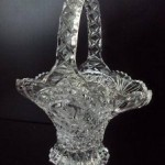 cut glass handbasket