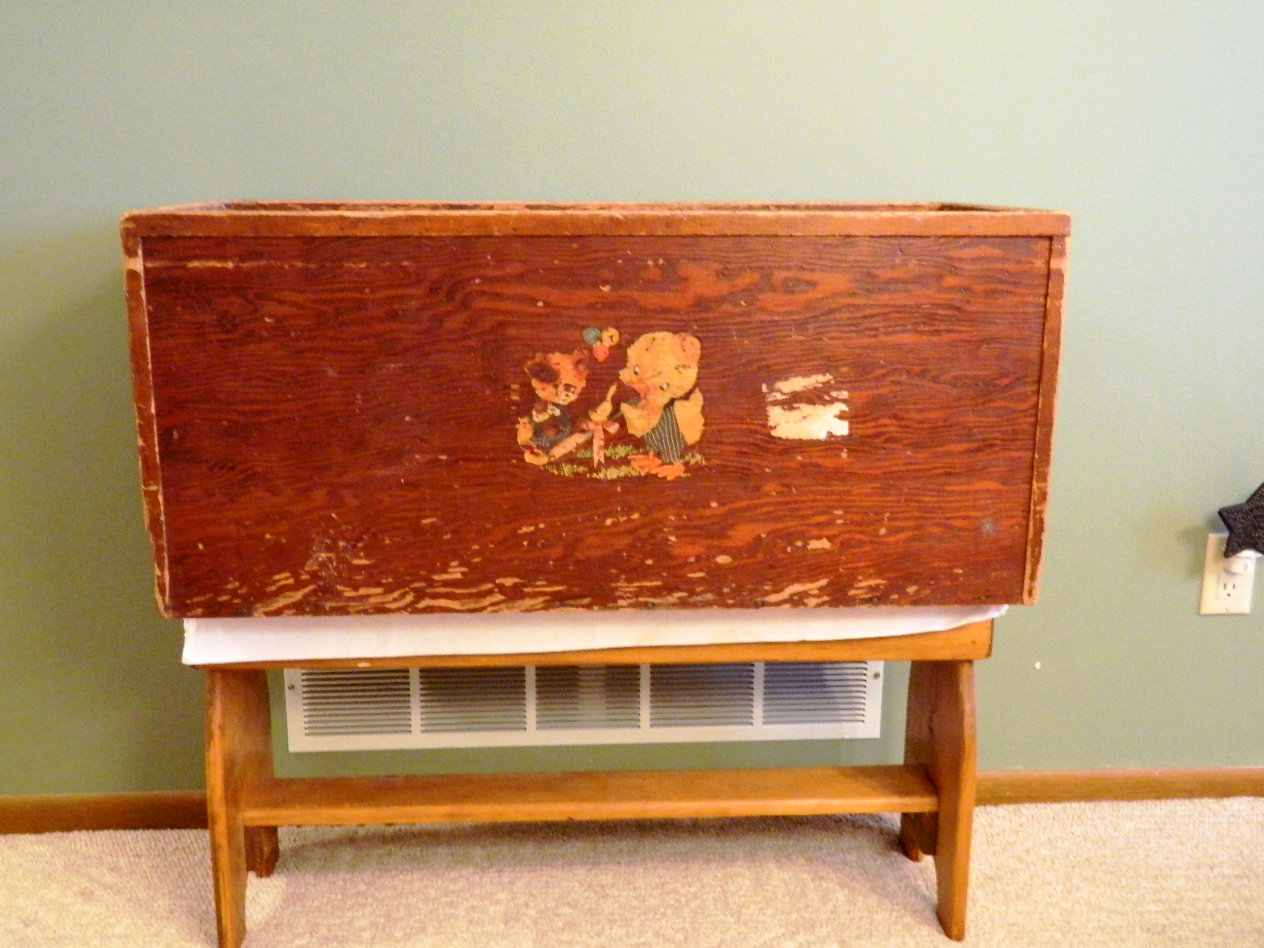... Rinker about this handmade wooden toy box purchased at a garage sale