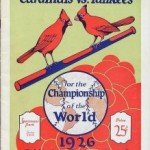 1926 Cardinals vs Yankees World Series Program
