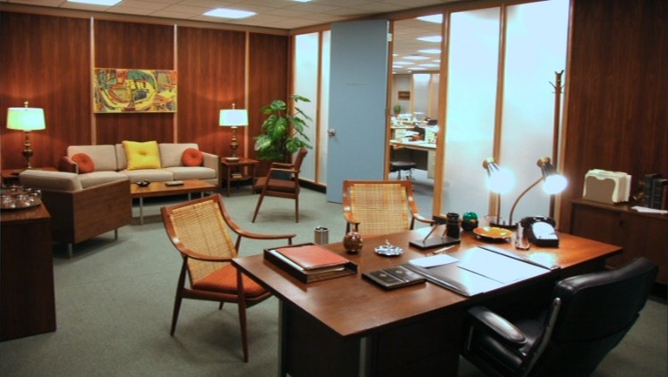 Cool furniture on the hit show mad men wood menders for 1980s furniture design