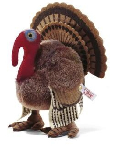 Finally, and most recently, in 2005 Steiff debuted Tommy the Turkey, a mohair and felt bird as a North American exclusive. This 18-cm gobbler was produced in an edition size of 1,500 pieces.