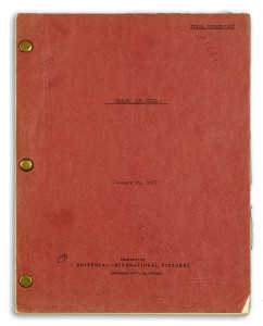 "Producer Albert Zugsmith's final draft copy of the screenplay for ""A Touch of Evil,"" which written and starred Orson Welles, It could be had for an estimated $5,000 to 7,000. (Photo: Bonhams)"