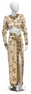 "This two-piece costume worn by Rita Hayworth in the movie ""Gilda."" (Photo: Bonhams)"