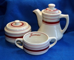 If you are not a circus memorabilia enthusiast, you probably don't know what Jomar means. Notice the Jomar name only appears on the coffee cup.