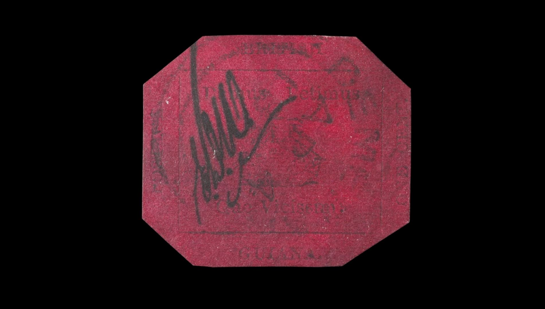 A humble, dirty and heavily postmarked 1856 British Guiana One-Cent Magenta stamp is set to become the world's most valuable stamp—for the fourth time—when it goes up for auction tonight at Sotheby's.