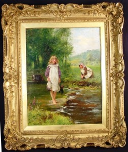 """This oil on canvas painting by Henry John Yeend King, titled """"Wait For Me,"""" is among the 500 or so lots in the auction. It carries a presale estimate of $25,000 ti $40,000."""