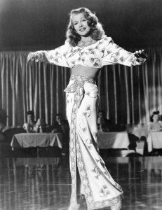"Hayworth wearing the costume in ""Gilda"" that is expected to sell for $40,000 to 60,000."