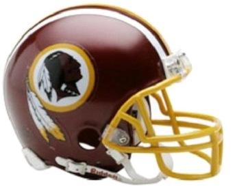 A replica Washington helmet from the 1992 season.