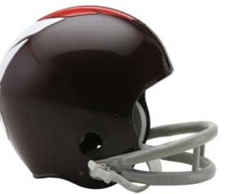 A replica Washington helmet from the 1960-64 seasons.