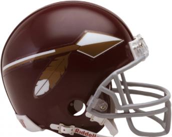 A replica Washington helmet from the 1965-69 seasons.