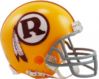 A replica Washington helmet from the 1970-71 seasons.
