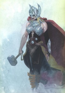 A rendering of the female Thor by Esad Ribic.