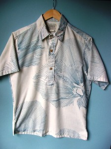 When I bought this aloha shirt at a thrift store, it was with the intention of selling it on eBay. I never expected to reunite it with the man who designed and made it.