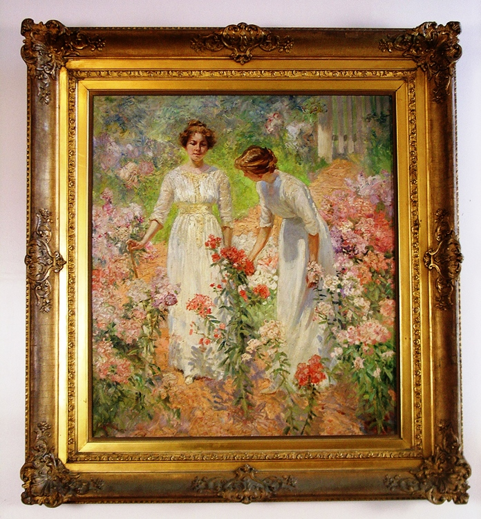 This oil painting by Hamilton Hamilton (1847-1928), circa-1900, depicts the artist's daughters.