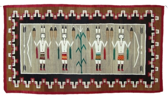 This museum-quality Navajo rug (or weaving), made around the 1940s and measuring 45 inches by 81 inches, is one of three pieces in the Best of Santa Fe auction—an annual event to be hosted by Allard Auctions, Inc. scheduled for Aug. 16-17—that carries a $10,000 to $20,000 presale estimate.