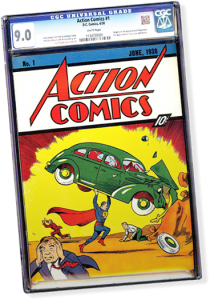 This copy of Action Comics #1—graded in 9.0 condition with white pages—set a world record for comic book prices, selling for $3,207,752 on eBay in an auction that ended Sunday evening.