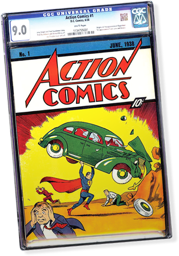 This copy of Action Comics #1 in 9.0 condition up for auction on eBay is currently at $1,950 million, indicating it will be the most expensive comic ever sold when the hammer comes down on Aug. 24. The current record for a comic book selling at auction is $2.16 million.