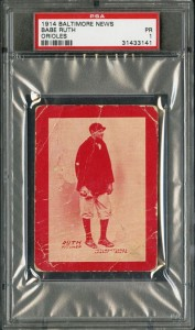 This 1914 Baltimore News Babe Ruth Rookie Card realized $390,000.