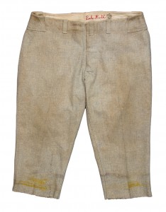 Babe Ruth's game-worn uniform pants from the 1928-32 seasons, size 40s, brought $90,000.