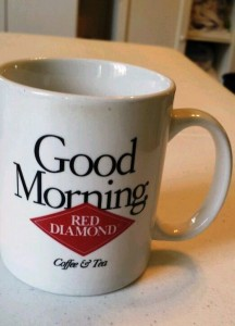 This promotional Red Diamond Brand Coffee & Tea Good Morning coffee mug was picked up for 50 cents and sold for $24.99.