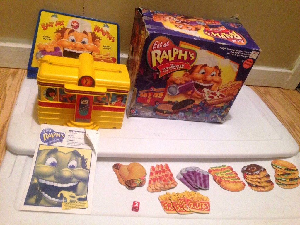 "Finally, this Eat At Ralph's in the original box was salvaged from the ""free"" pile at a yard sale. It sold for $63."