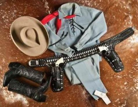 This Lone Ranger outfit worn by actor Clayton Moore wore when he made appearances as the character after retiring from television sold for $195,000 in an auction hosted by A & S Auction Company.