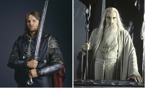 "The staff belonging to the wizard Saruman the White and the sword wielded by Aragorn, Ranger of the North, in ""The Lord of the Rings: The Return of the King"" will be up for sale as part of the ""There's No Place Like Hollywood"" auction of classic movie memorabilia this November."