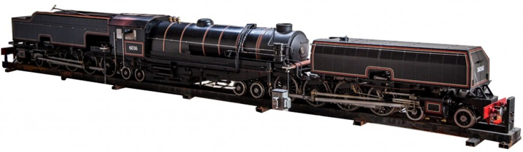 "This very rare 5-inch gauge AD60 Garratt Locomotive No 6063 with an 8-4+4-8-4 wheel arrangement is from the late Dennis Brown's collection of Gauge 1 locomotives that will be part of the upcoming Dreweatts & Bloomsbury's Transport Auction. This ""toy"" locomotive weighs in at approximately 450 pounds and is some 12 feet in length, is fully operational, being powered by live steam, and carries a presale estimate of $25,000 to $30,000."