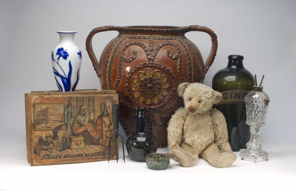 A lone bear from Mrs. Lefevre's collection seems to be admiring some of the other items slated to be auctioned.