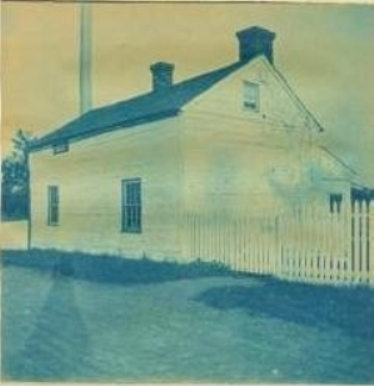 This 3-inch photo of the back of General Meade's Civil War headquarters at Gettysburg was developed as a blue-tinted cyanotype. The unknown photographer's shadow can be seen in the image, a common amateur mistake. It sold for $50 in 2013.