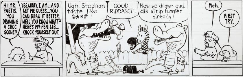 The first of the Watterson-Pastis collaboration strips.