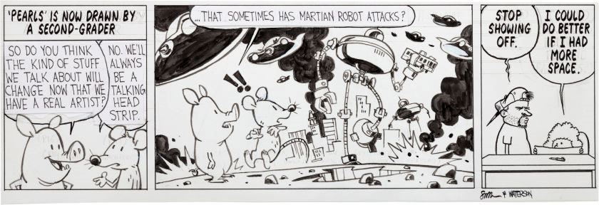 The second of the Watterson-Pastis collaboration strips.