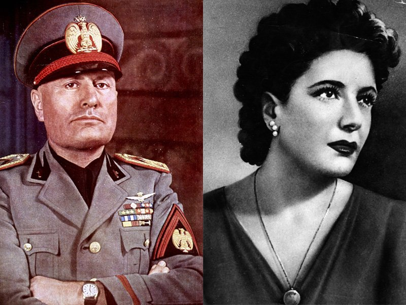 Mussolini and his mistress, Petacci.