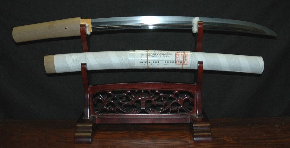 A tanto with its stand.
