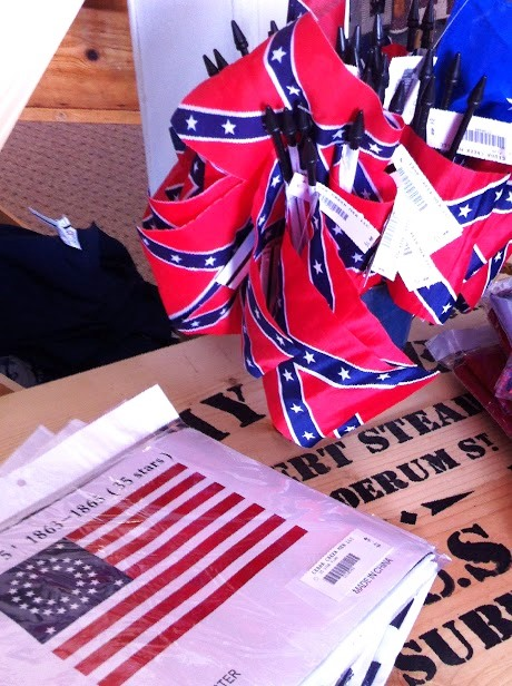 Because the Cedar Creek Battlefield Visitors Center is not on National Park grounds, it can—and does—sell Confederate Battle Flags and other Civil War memorabilia featuring the flag. In terms of actual Civil War-era Confederate flags, this controversy will not have much of an effect, as there are only some 60 known flags in existence.